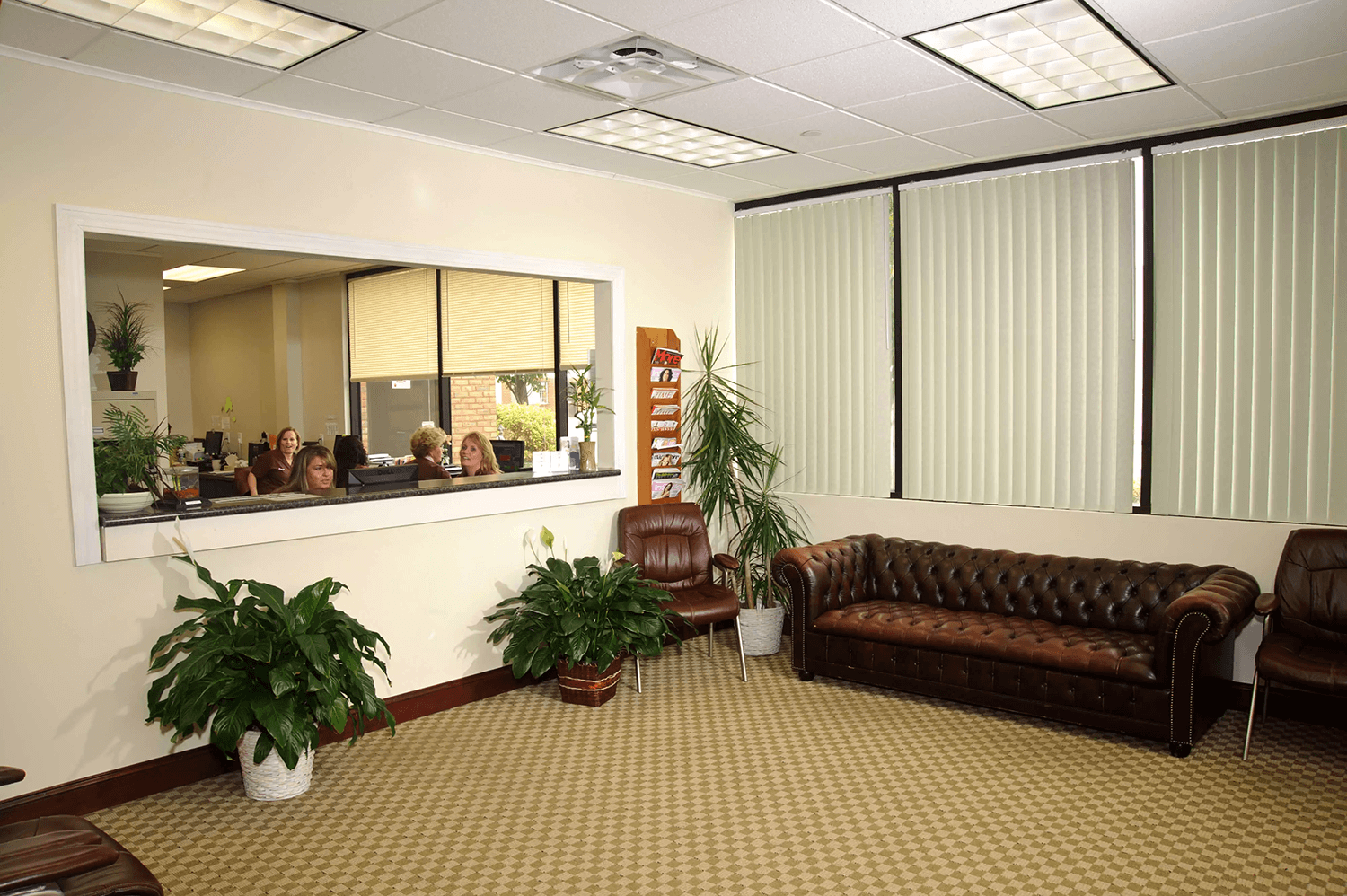 View of reception area at Livingston Podiatry Associates